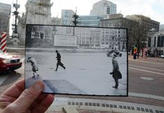 Historic Indianapolis revists Monument Circle in 1942.