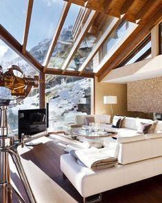 Chalet Zermatt Peak. Schweiz, Swiss, Luxury, Architecture, Holiday, Interior, Wintersport, Winter, Season, Myday Follow us on Facebook!! https://www.facebook.com/GetAddicted2/
