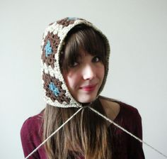 Yup gonna make this. Unique Crochet, Crochet Motif, Diy Crochet, Knit Hats, Crochet Baby Hats, Crochet Clothes, Granny Square Projects, Yarn Inspiration, Crochet Woman