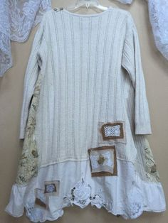 Upcycled plus size Shabby Chic Tunic Vintage by SimplyCathrineAnn (Diy Shirts Extender)
