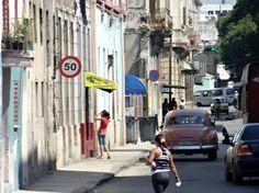 Havana street. Photo taken by Brian Kaylor during a trip for the COEBAC's 40th anniversary celebration at Iglesia Bautista Enmanuel (Emmanuel Baptist Church) in Ciego de Ávila, Cuba.