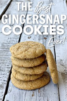 This eggless gingersnap cookie is the best treat to make this Christmas season. You can have these fresh baked cookies in less than an hour! Ginger Snap Cookies, Cookie Recipes, New Recipes, Ginger Snaps, Freshly Baked, Egg Free Desserts, Treats, Breakfast, Cookies