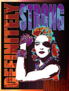 Definitely strong - Madonna - Digital art