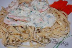 Paste cu creveti in sos de smantana