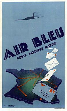 Air Bleu Poster, 1935