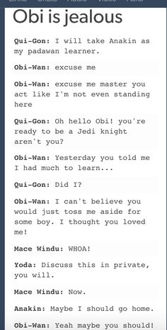 I'm on Obi-Wan's side.