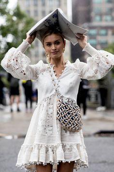 Attendees at New York Fashion Week Spring 2019 - Street Fashion