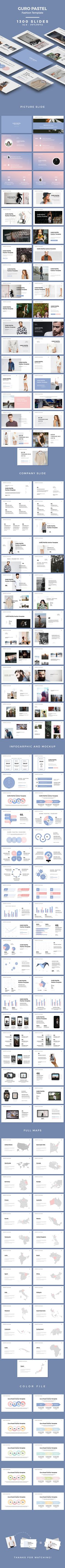 GURO Pastel - Fashion Template (PowerPoint Templates)