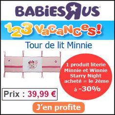 #missbonreduction; 1,2,3 vacances: 30 % de réduction pour votre 2ème produit dès 1 article literie Minnie et Winnie Starry Night commandé chez Babiesrus. http://www.miss-bon-reduction.fr//details-bon-reduction-Babiesrus-i855465-c1825919.html