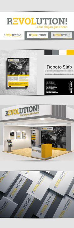Revolution! - charity logo & identity by unaManu, via Behance