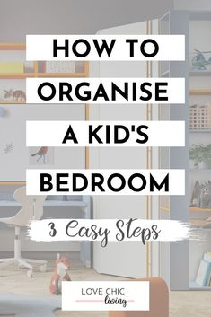 How to organize kids' bedrooms, brilliant ideas for space saving girls and boys bedrooms. From closets, to toys storage, to space saving ideas on making small bedrooms feel bigger Country House Interior, Interior House Colors, Interior Design, Kids Bedroom Organization, Bedroom Storage, Cheap Office Decor, Cheap Home Decor, Home Remodeling Diy, Organize Kids