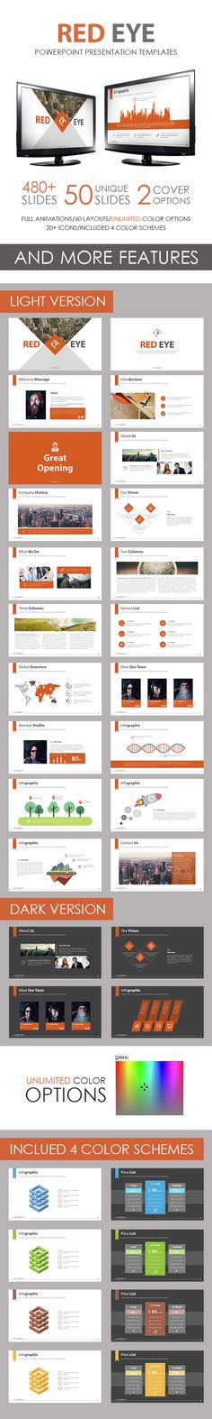 red eye powerpoint template | cleanses, flats and creative, Presentation templates