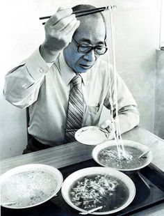 Ando Momofuku, inventor of the instant noodle. Our hero.