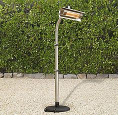 Infrared Floor Telescoping Patio Heater - $379.00 » Restoration Hardware  This outdoor heater is perfect for those chilly nights on the patio or around the pool spent visiting with friends and family or just lounging with a good book. Add a couple around your outdoor seating areas to keep everyone comfortably warm.