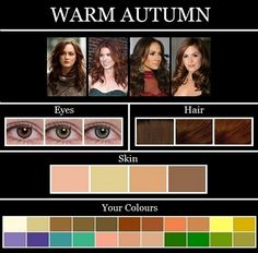 Цветовая палитра Мягкая Осень. Цветотип. Гармония цвета.  Лица