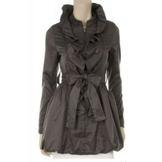 Sophisticated ruffle trench coat -This is so beautiful-I want one!
