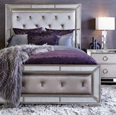 Royal Combination Purple Black Bedroom Ideas
