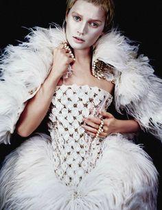Toni Garrn in 'Wunderkammer' Photographer: Txema Yeste Dress and accessories: Alexander McQueen F/W 2013/14 Numéro China #34 November 2013