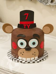 Five Nights at Freddy's birthday cake by The Cake Mom & Co.