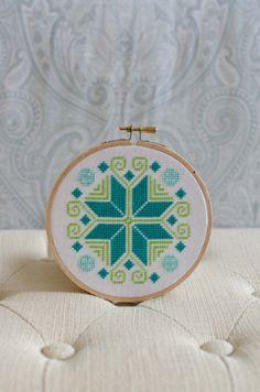Cross Stitch Pattern PDF Colorful Ornament by PalenciaGrove, $3.00
