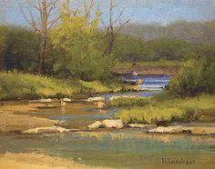 Daybreak on the Creek by Kim Casebeer Oil ~ 8 x 10