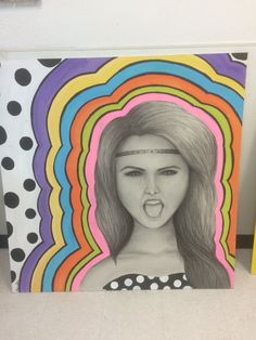 """Hannah's piece for the """"Peace, Love and Art"""" show"""