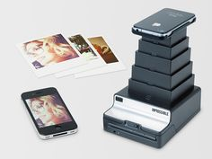 The Impossible Instant Lab works like an old Polaroid camera and a photographic enlarger all rolled into one. In order to turn digital files into hardcopy, simply place the iPhone on the enlarger screen, and voila! The Impossible Instant Lab uses the light from the iPhone display to expose the film sheet, and then prints it out. The iPhone images will be cropped into a square format.