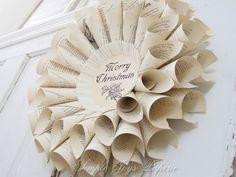 Vintage Book Christmas Wreath - Maybe with sheet music instead? Either way, I'm not paying $50 for one.