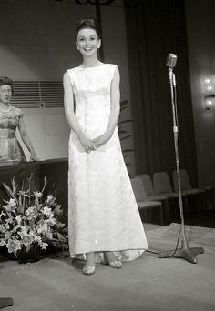 Audrey Hepburn at the British Film Academy Awards, April 1964.