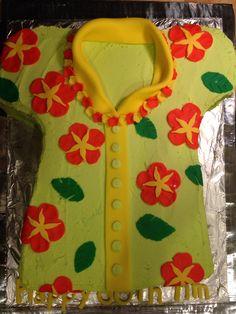 Hawaiian shirt cake by Sweet Celebrations