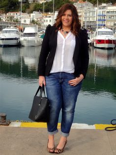 Outfit Idea Fashion Style Outfit Style - Plus Size Fashion & Dress Smart Casual Outfit, Smart Casual Women, Blazer Outfits Casual, Casual Wear, Looks Plus Size, Look Plus, Plus Size Fall Outfit, Plus Size Outfits, Xl Mode