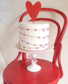 red-heart-cake | Burnett's Boards - Daily Wedding Inspiration