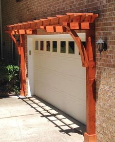 The pergola kits are the easiest and quickest way to build a garden pergola. There are lots of do it yourself pergola kits available to you so that anyone could easily put them together to construct a new structure at their backyard. Garage Door Colors, Best Garage Doors, Dream Garage, Garage Door Accessories, Garage Door Decor, Diy Pergola, Pergola Ideas, Pergola Roof, Small Pergola