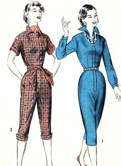 1950s Womens Jumpsuit Pattern Advance 7817 by paneenjerez on Etsy, $45.00