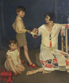 Family Group, 1926, by William Oliphant Hutchison