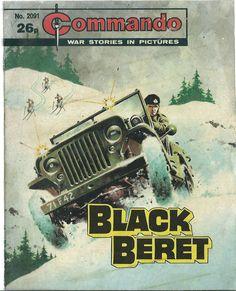BLACK BERET,COMMANDO WAR STORIES IN PICTURES,NO.2091,WAR COMIC,1987