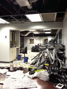 A pic of the demolition of the former fake kinko's Mark Dudlik moved into.