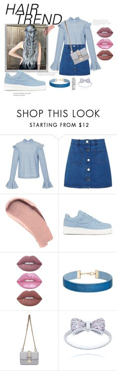 """""""Ocean hair"""" by alejomarianne ❤ liked on Polyvore featuring beauty, Rejina Pyo, Miss Selfridge, Burberry, Polaroid, NIKE, Lime Crime, Valentino, hairtrend and rainbowhair"""