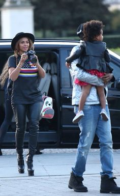 Beyonce, Jayz & Blue Ivy in Paris, France October 7th, 2014