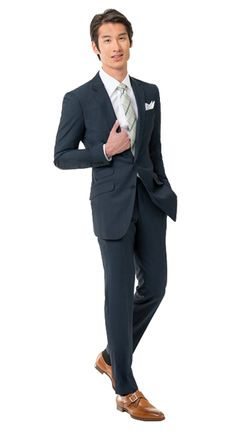 Solid Charcoal Blue Suit from Black Lapel #sharplydressedgroom