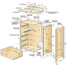 woodworking free plans: dresser woodworking plans