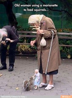 Using marionette to feed squirrel