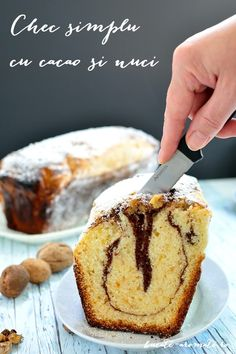 Cake with cocoa and nuts Cocoa Cake, Food Photo, Cornbread, Banana Bread, Deserts, Muffin, Breakfast, Ethnic Recipes, Mai
