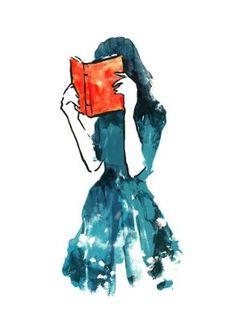 Silhouette lesendes Mädchen lesendes Mädchen silhouette stacks - Fushion News Reading Art, Woman Reading, Girl Reading Book, Happy Reading, Reading Books, I Love Books, My Books, Illustrations, Illustration Art