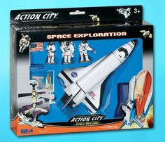 Daron Worldwide Trading Inc. Space Shuttle with Stand 3 Astronauts, American Flag and Kennedy Space Center Sign by Daron Worldwide Trading inc., http://www.amazon.com/dp/B000GH00ZW/ref=cm_sw_r_pi_dp_Raumsb0F7G1C0