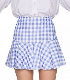 Pixie Market Ozzie Gingham Pleated Skirt
