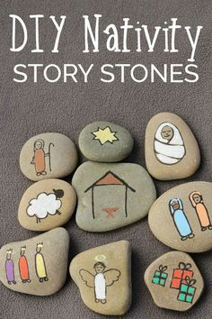 Create your own Nativity Story Stones to help children understand the true meaning of Christmas. These simple stones are easy to make. via @rainydaymum