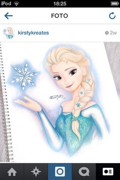 Drawing Elsa>>Wow you're good
