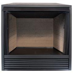 ProCom 35-in W 32,000-BTU Black Vent-Free Dual-Burner Gas ...