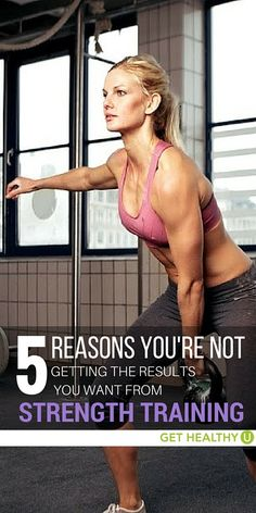 Lifting weights will give you fantastic results, but only if you do it right. If you've been lifting for some time and haven't seen the results you hoped for, here are five reasons you're not getting results you want from strength training!